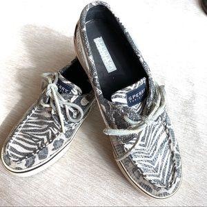 Sperry Topsider Bahama Zebra/Cheetah Sequin Shoes